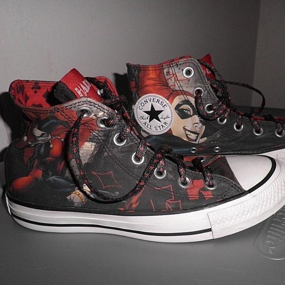 Converse Shoes - Converse Harley Quinn High Top All Stars M6 W8 7f9636b94